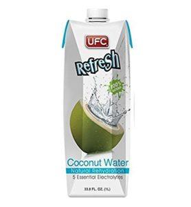UFC Kokoswasser in Verpackung
