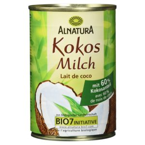 Alnatura Bio Kokosmilch, vegan, 6er Pack (6 x 400 ml