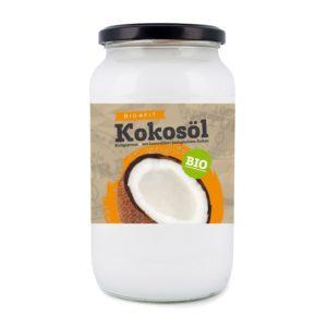 Bio4Fit Kokosöl vor weissem Hintergrund