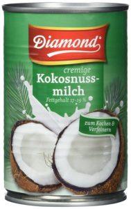 Diamond Kokosmilch vor weissem Hintergrund