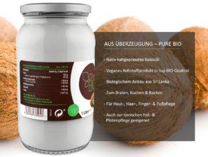 PureBIO Kokosfett 1.000 ml